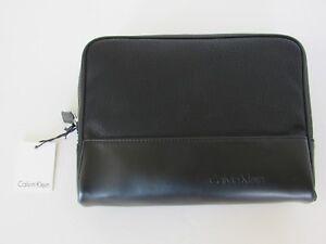000357bc4d0c2  55 Calvin Klein Black Pebble PU DOBB KIT Bag Toiletry Kit NEW