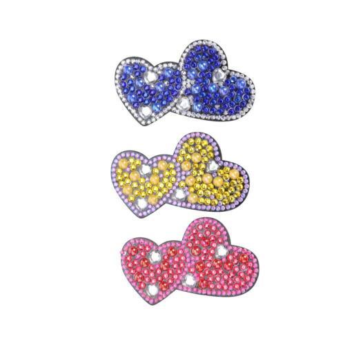3pcs DIY Diamond Painting Hair Clips Bobby Pins Headwear Valentines Gift Decor