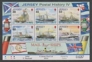 Jersey-2010-Postal-Histoire-Courrier-Expedie-Feuille-MNH-Sg-MS1509