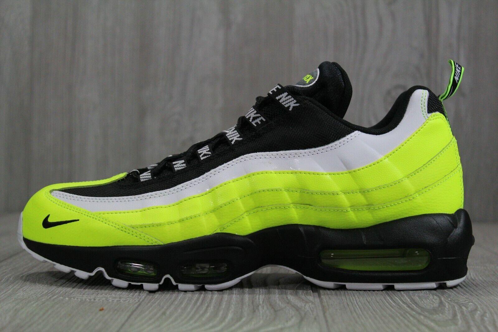 43 New Nike Air Max  95 PRM Volt nero Neon scarpe 538416 -701 Men's Dimensione 10.5 11  vendita calda
