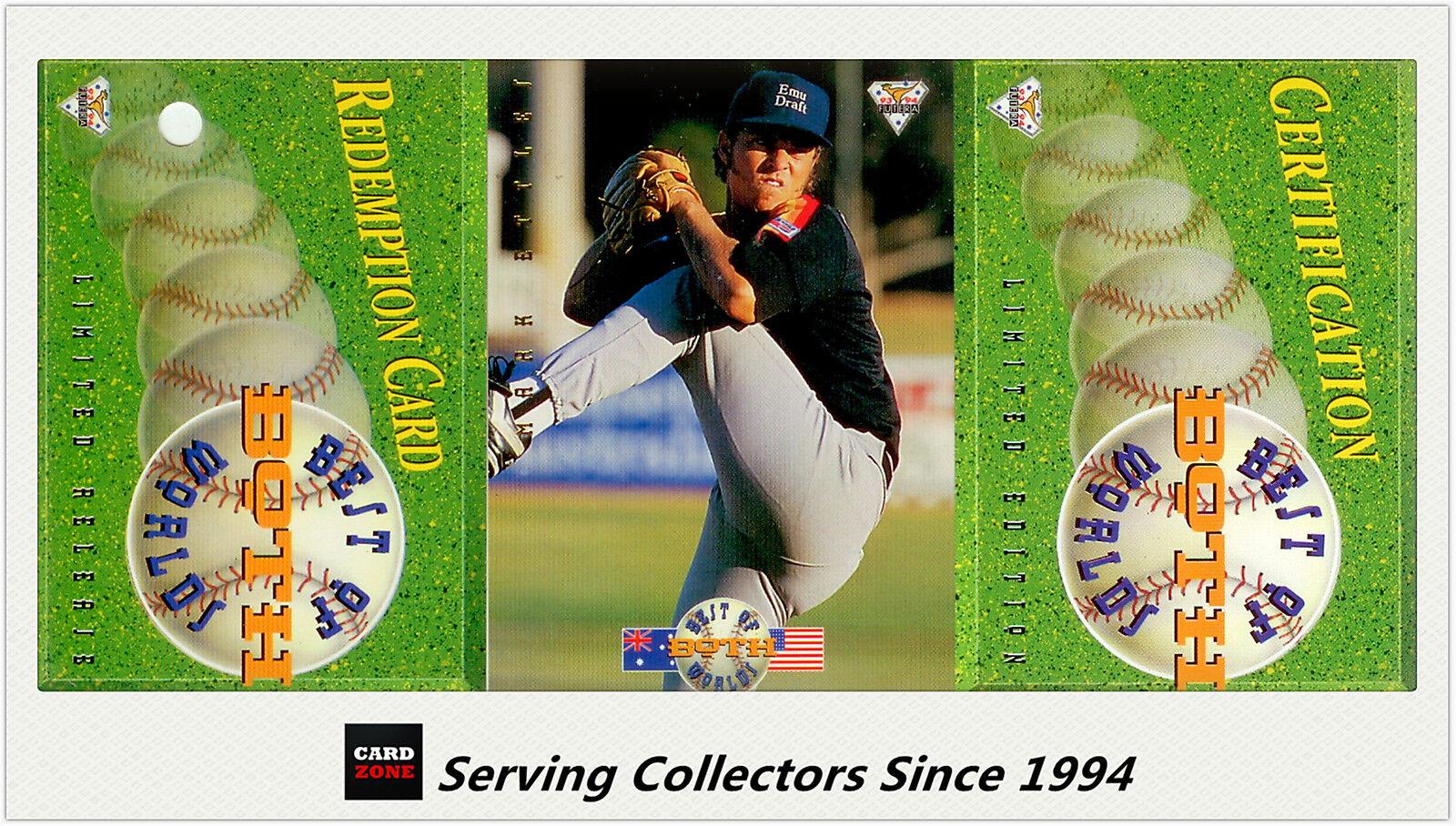 1994 Futera Australia Baseball Card Best Of Both World Mark Ettles-Rare