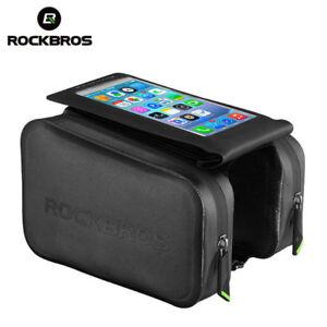 RockBros-Waterproof-Frame-Tube-Bag-6-0-034-Touch-Screen-Phone-Bicycle-Bag-Black