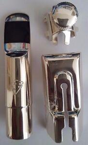 Winston & Issac Alto saxophone sax metal mouthpiece size A-8 Silver Finish New!