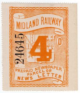 I-B-Midland-Railway-Prepaid-Newspaper-or-News-Letter-4d-large-format