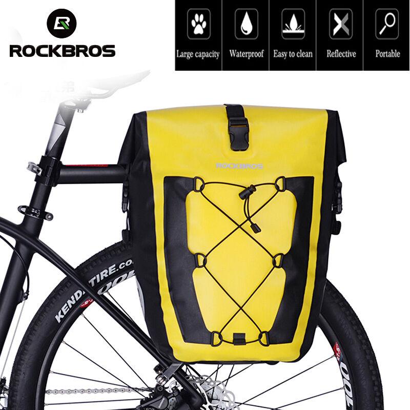 Borsa Bisaccia ROCKBROS Impermeabile Ciclismo Bicicletta Viaggio sedile posteriore portante Gituttio