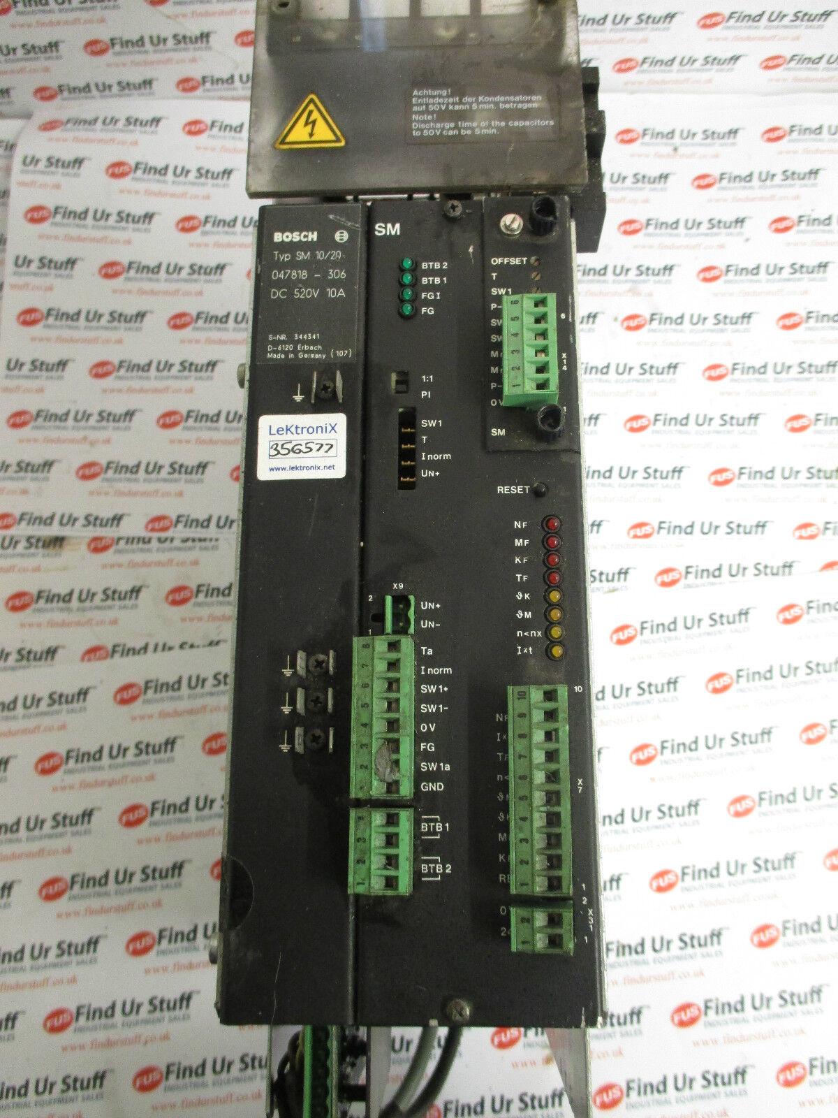 T//A 055128-106 dc 520v 5a servomodul Bosch SM Type 10//20