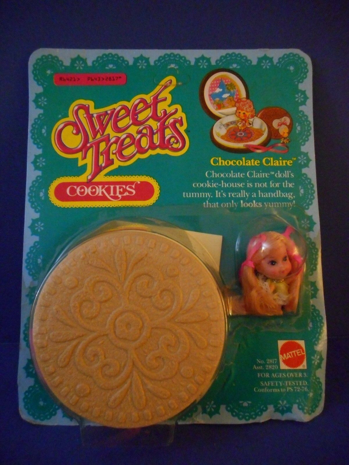 1978 Mattel Sweet Treats cookies  'Claire Chocolate  nuevo viejo stock Como Nuevo