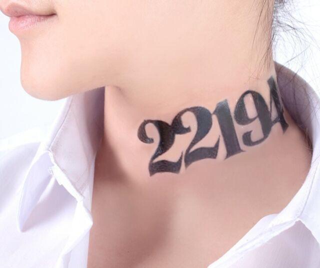 Anime The Promised Neverland Yakusoku Emma Norman Temporary Cosplay Neck Tattoo