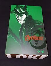 1/6 Hot Toys MMS176  Loki Avengers Empty Box With Plastic Inserts **US Seller**