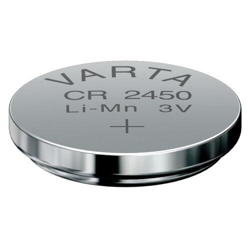 5 x Varta CR2450 Batterien Knopfzellen Knopfzelle Frische Markenqualität