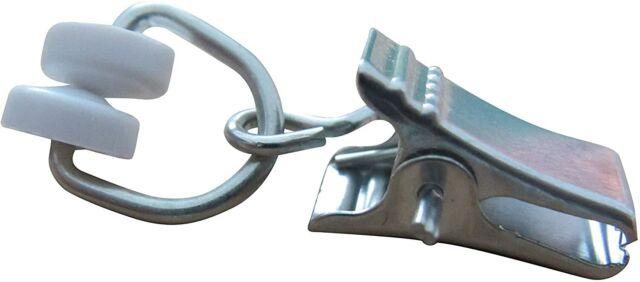 T-Rollringe Metall mit Klammer Gardinenhaken Gardinengleiter Gardinenschienen