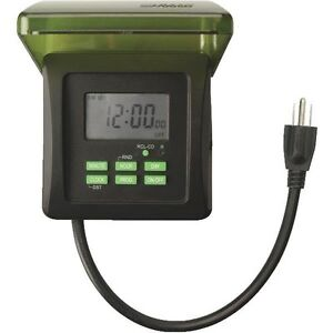 COLEMAN CABLE OUTDOOR 7 DAY HEAVY DUTY DIGITAL TIMER CHRISTMAS LIGHTS EBay