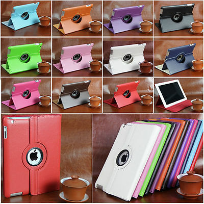 New Rotating PU Leather Case Cover Swivel Stand for Apple iPad Air 5 2 3 4 mini