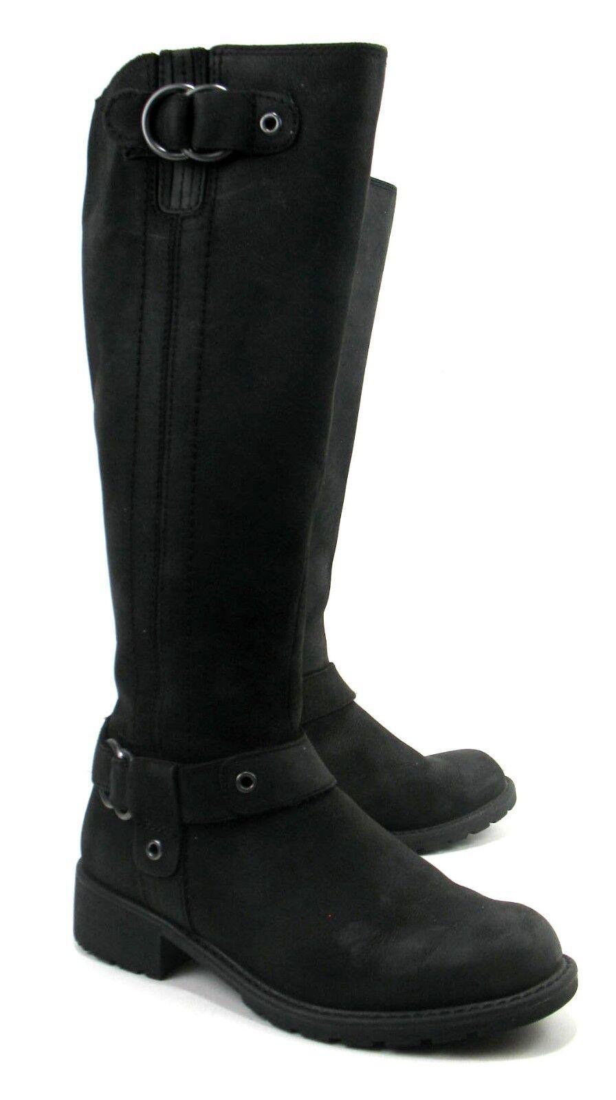 Clarks - Soft Black Leather Knee High Boots - Tige De Cuir - Women's Size 6 M