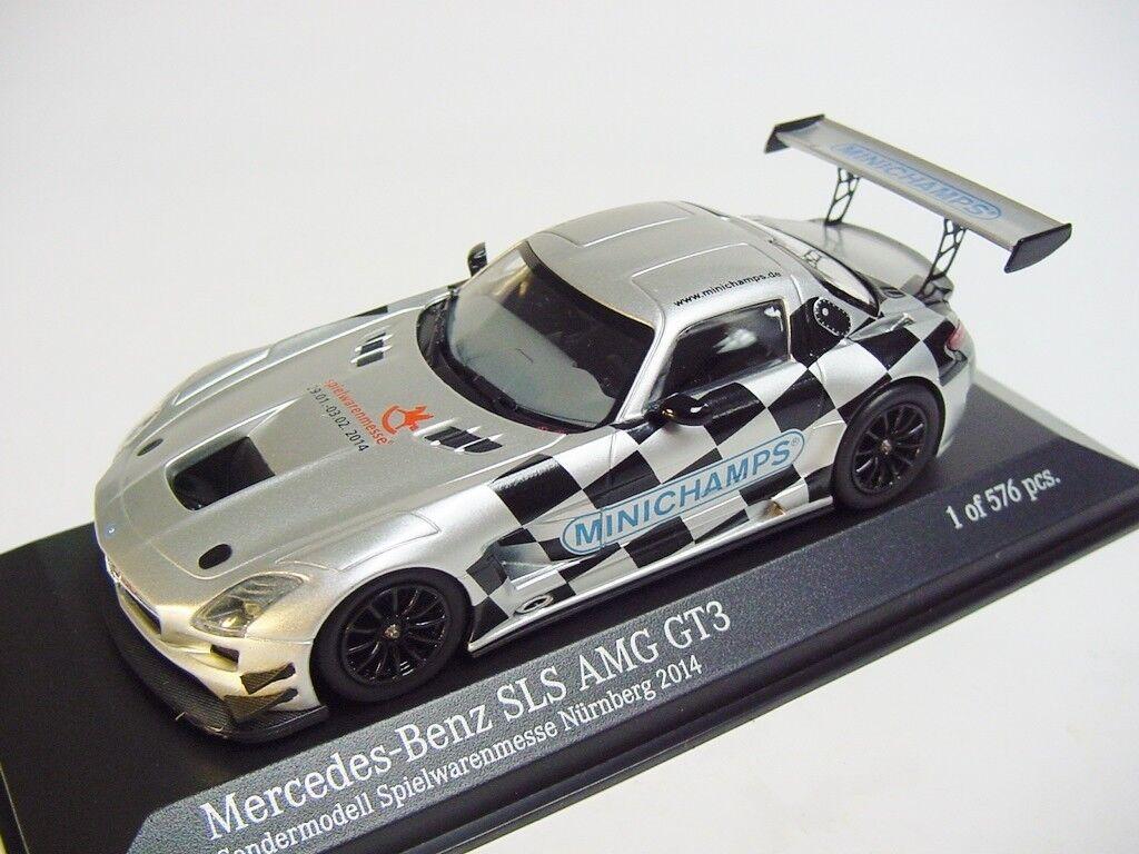 1 43 MINICHAMPS 2014 MB SLS AMG GT3  2014 Toy Fair Nuernberg  RARE PROMO MODEL