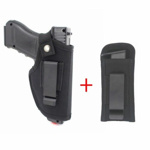 Belt Pistol Holster for Concealed Carry 9mm IWB Single Magazine Holster Pouch