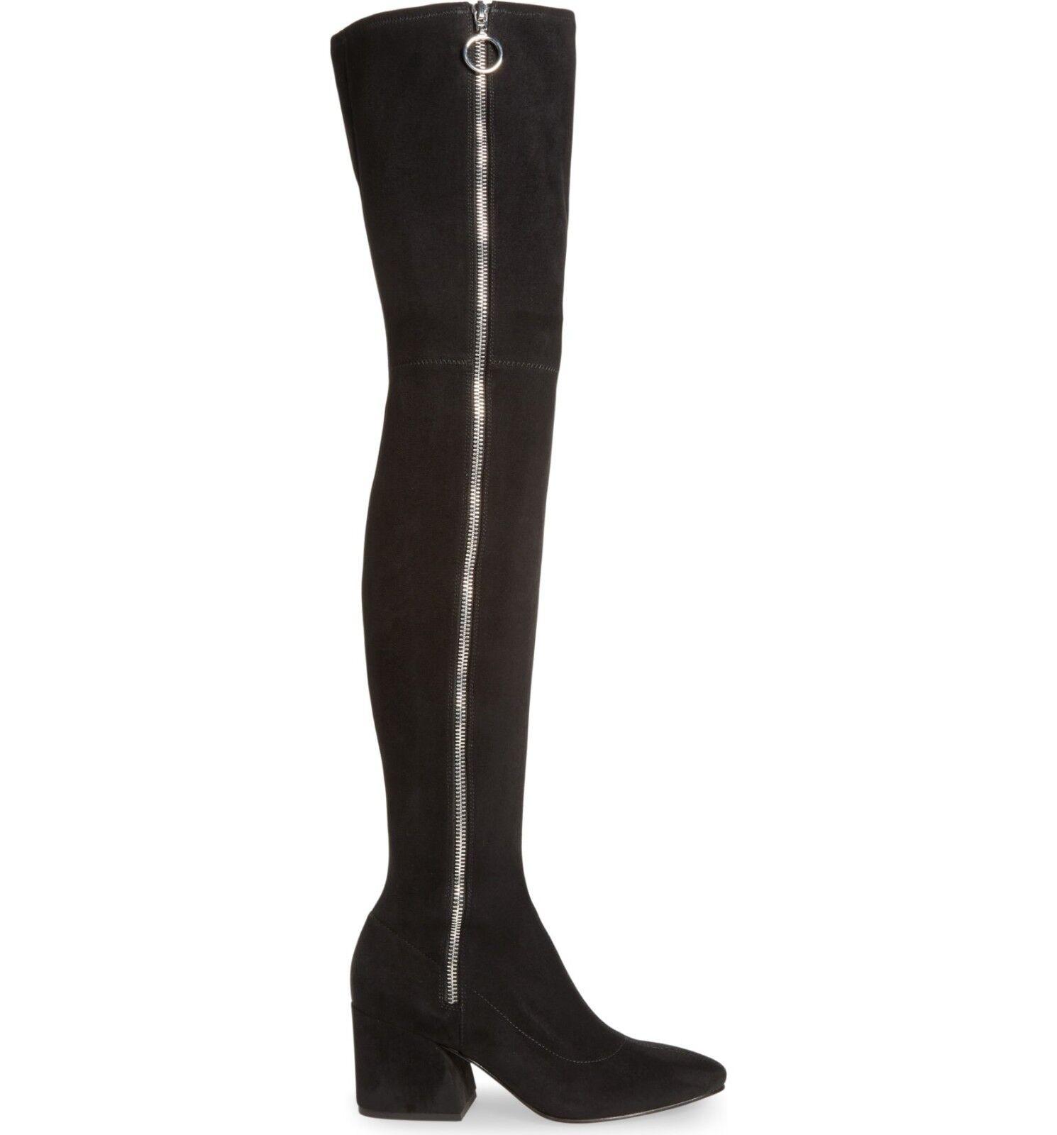 250 DOLCE VITA VIX THIGH HIGH OTK SUEDE BLACK BLOCK HEEL SEXY  BOOT 6.5 (M12)