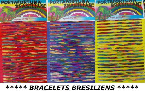 WIEDERVERKAUFPACKUNG 25//50//100//200 ARMBAND BRASILIANISCH GEFLOCHTEN FREUNDSCHAFT