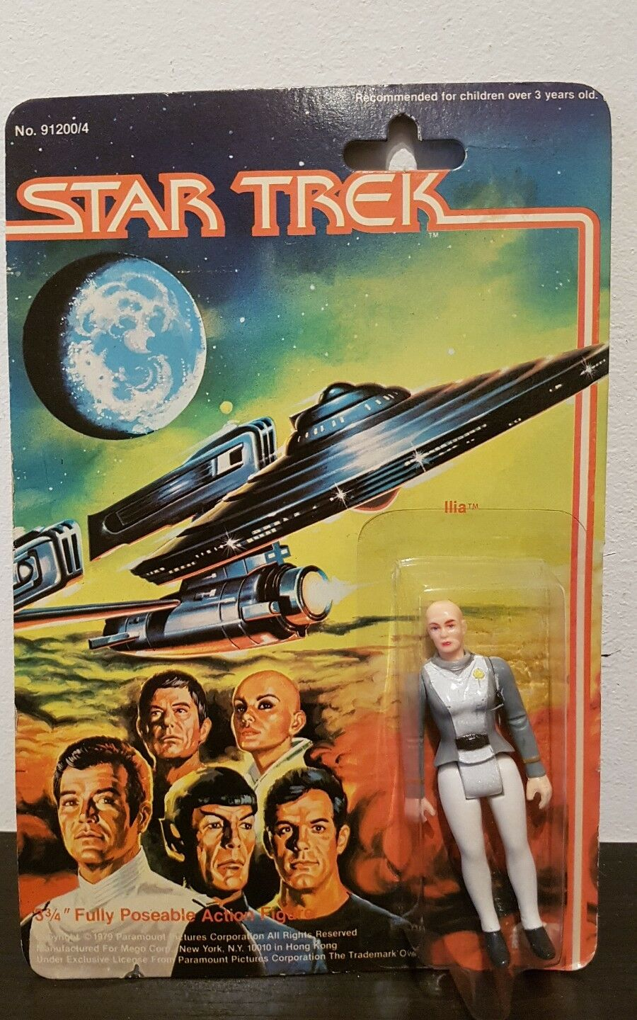Ilia MEGO STAR TREK ACTION FIGURE 3'' 3 4 MOC