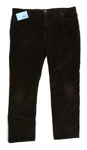 Marks-amp-Spencer-Mens-Brown-Cotton-Blend-Trousers-Size-W40-L31