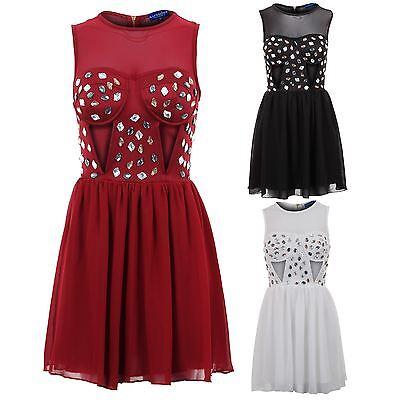 Dashing Damen Gepolsterter Bh Netzeinsatz Ausgeschnitten Juwelen Chiffon Rock Damen Activewear Bottoms Activewear