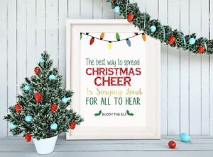 Buddy The Elf Christmas Cheer Movie Quote Framed Print With Mouunt