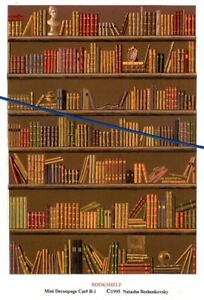 Details about 112 scale Natasha Beshenkovsky\u0027s Mini Decoupage , Bookshelf  b1