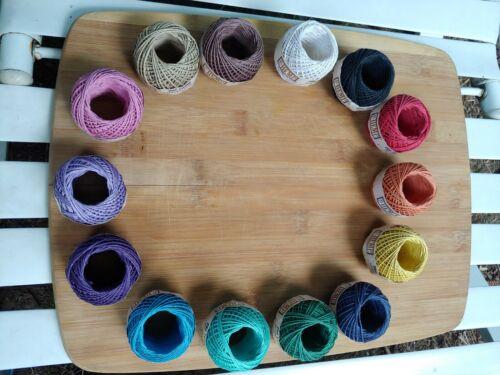 82/' 20# 1mm Rainbow Variety Hemp Cord String Spool 14 qty spool balls