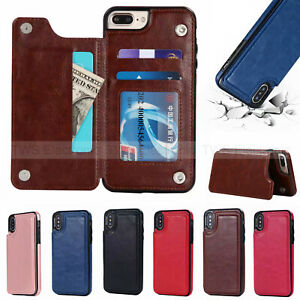 Magnetic-Leather-Wallet-Case-Card-Slot-Shockproof-Flip-Cover-for-iPhone-XS-MAX-7