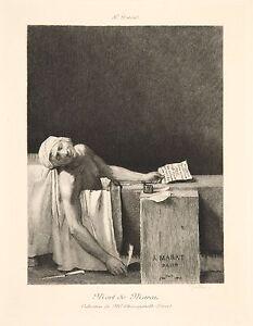 Details About Jacques Louis David Reproduction The Death Of Marat Fine Art Print