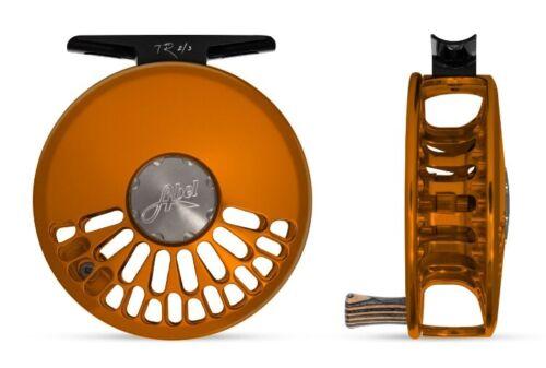 Nouveau Abel Tubeless Ready 2/3 Cliquez Drag #2/3 Poids Mouche Moulinet en orange avec zèbre en bois poignée