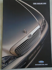 Ford Fairlane Ghia range brochure Sep 1995 Australian
