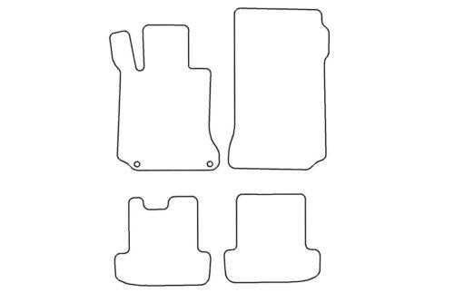 Alfombras tapices set para mercedes clase e a207 original noble nubukeinfassung