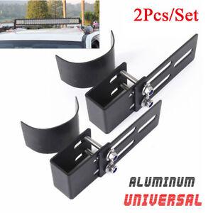 2-x-Car-Roof-LED-Light-Bar-Bracket-Race-Bull-Bar-Mount-Holder-Bumper-Accessories