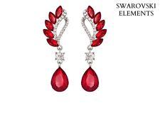 boucles d'oreilles Swarovski® Elements larme luxe design vintage ROUGES