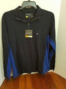 Eddie-Bauer-Pull-Over-Light-Jacket-Shirt-Zip-Up-Collar-Mens-Medium-Long-Sleeve
