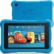 Amazon Kindle Fire HD 6 Kids Edition 8GB Wi-Fi 6in - Black with Blue Bumper Case