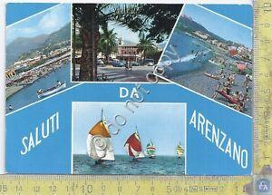 Cartolina-Postcard-Gruss-aus-Saluti-da-Arenzano-barche-1967