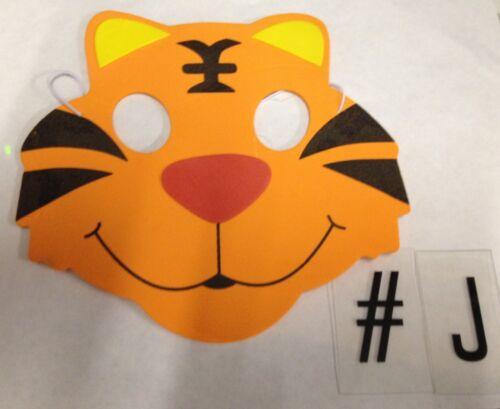 10 Kids Fancy Dress Face Masks-Boys Girls animal Felt Mask Party Movie Costume