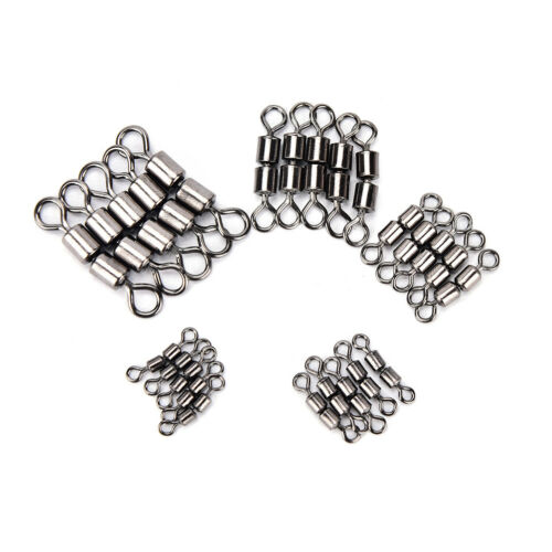 20pcs//lot double rolling swivel barrel fishing tackle connector accessories Z8