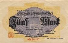 Germany / Altona 5 Mark  2.11.1918  Circulated Banknote GH14
