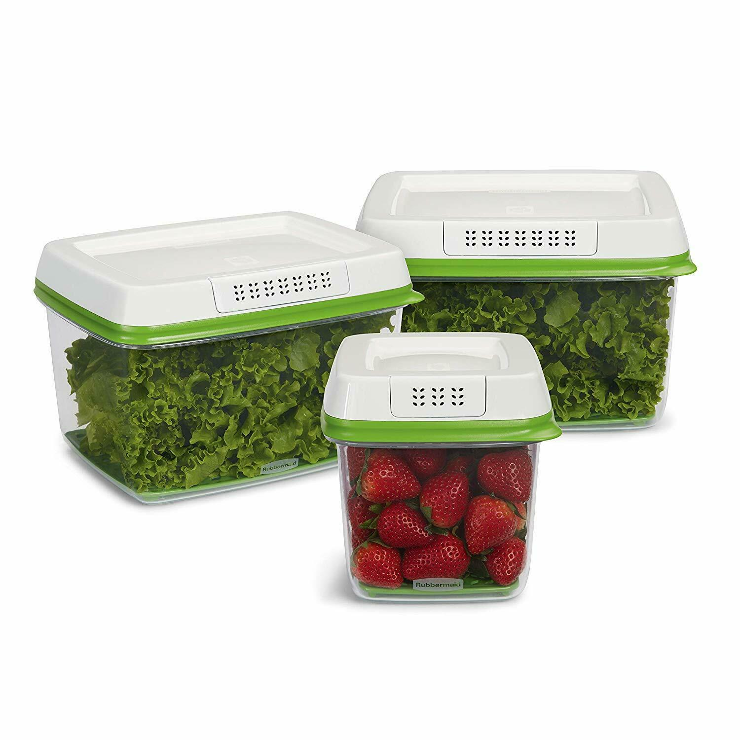 3-Piece Set FreshWorks Produce Saver Food Storage Containers