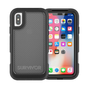 GRIFFIN-SURVIVOR-EXTREME-HARD-CASE-FOR-APPLE-IPHONE-X-BLACK-TINT-TA43979