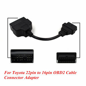 22Pin To 16Pin OBD1 to OBD2 Connector Cable Diagnostic Adapter For