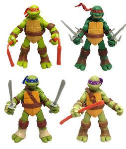 4Pcs-Teenage-Mutant-Ninja-Turtles-Classic-Kids-Toy-5-039-039-TMNT-Figures-PVC-Toys-Set