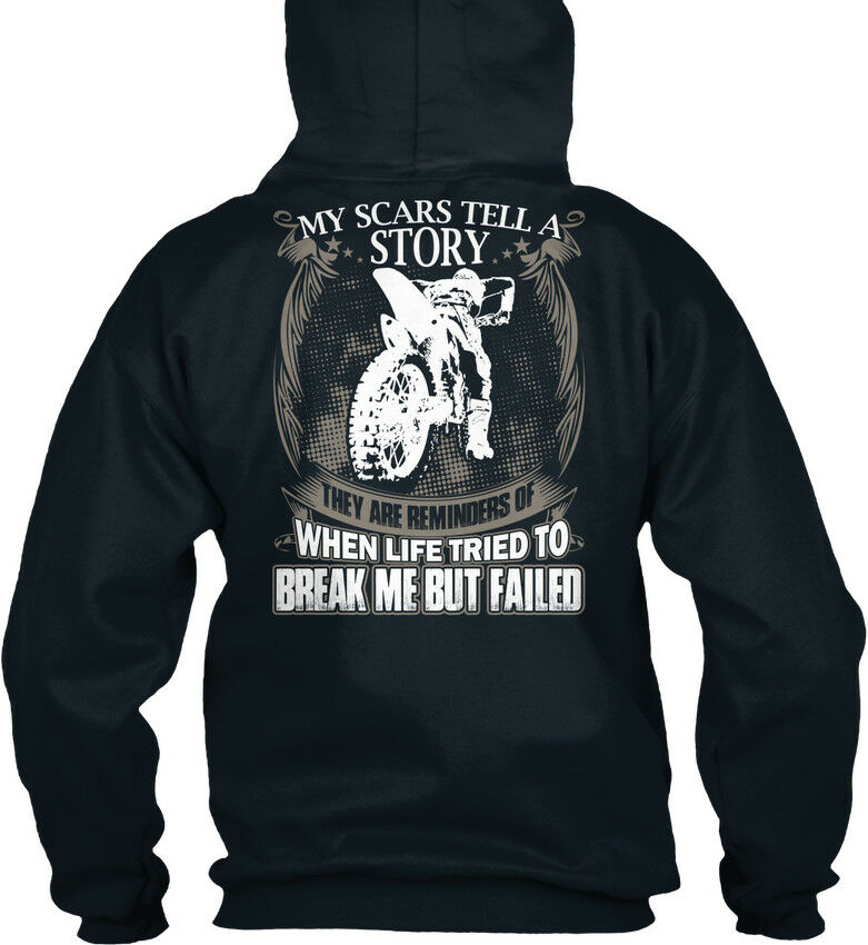 Us Motocross-my Scars Tell A Story - My My My They Are Standard College Hoodie | Offizielle  | Deutschland Online Shop  9614b7