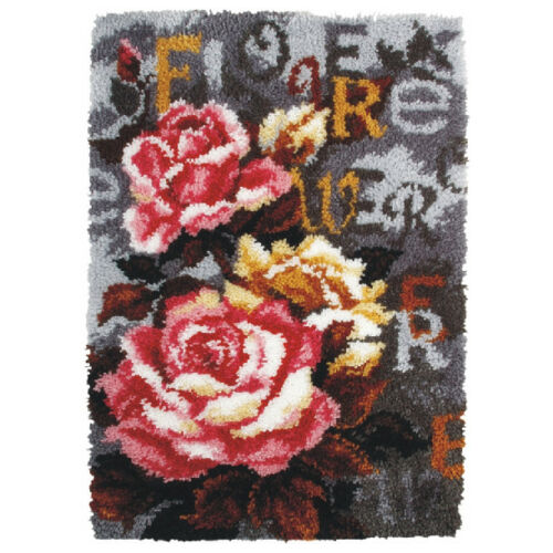 Latch Hook Rug Kit ORC.4026 Roses Orchidea