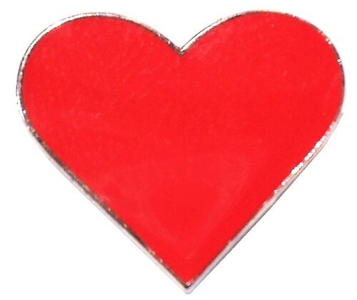 Red Love Heart Valentines Day Gift Metal Enamel Lapel Pin Badge Brooch 20mm