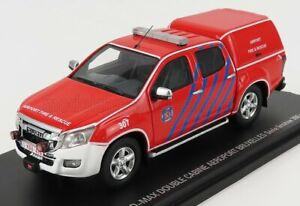 ALARME 1/43 FORD USA | D-MAX DOUBLE CABINE CLOSED AIRPORT SAPEURS POMPIERS 20...