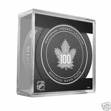 TORONTO MAPLE LEAFS 2016-2017 100th Anniversary Season OFFICIAL GAME PUCK NEW